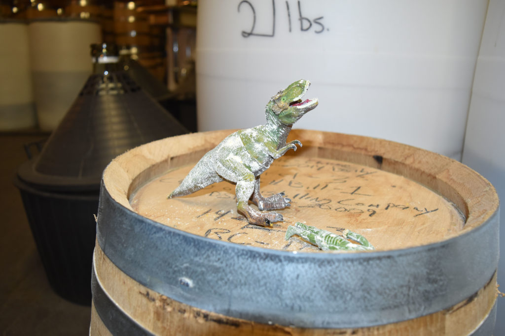 Dinosaur toy at Chicago Distilling Co