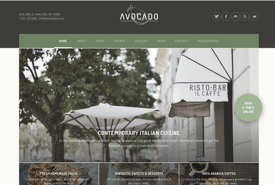 restaurant theme for wordpress