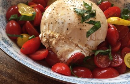 Cherry Tomato and Fresh Burrata Mozzerella Salad