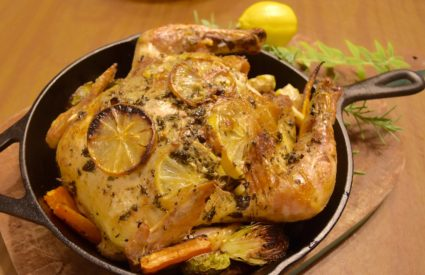 Herb and Garlic Roasted Chicken