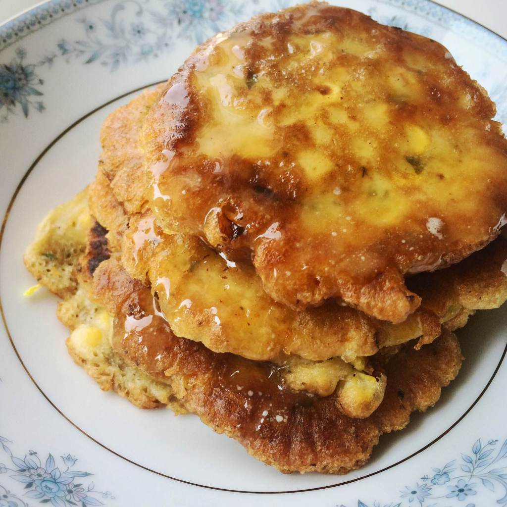 Corn Fritters made with fresh summer corn