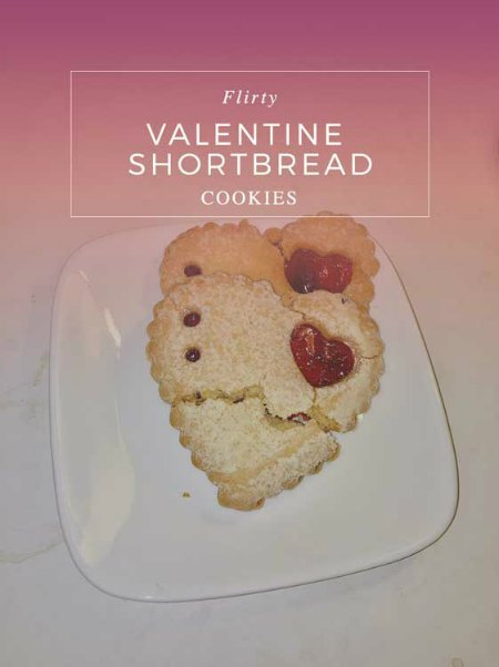 Valentine's Day Shortbread Cookies