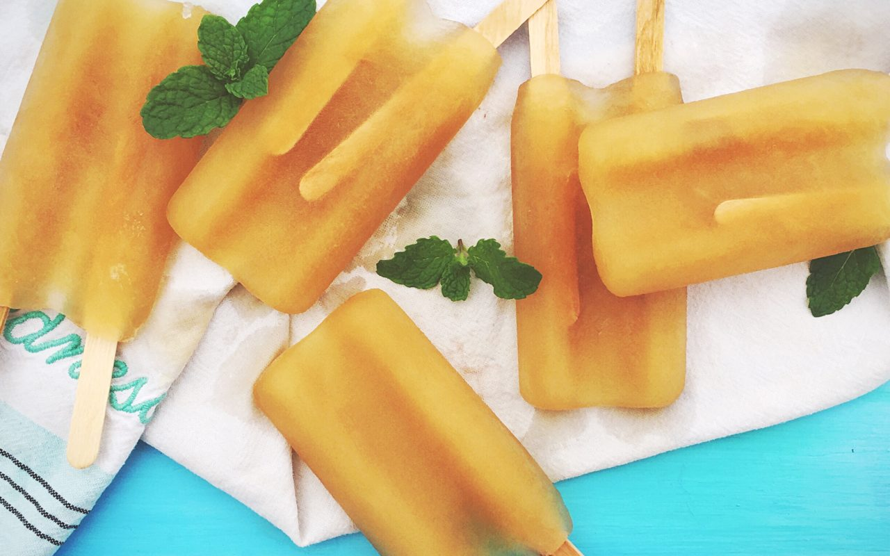 Green Tea and Sweet Mint Ice Pops