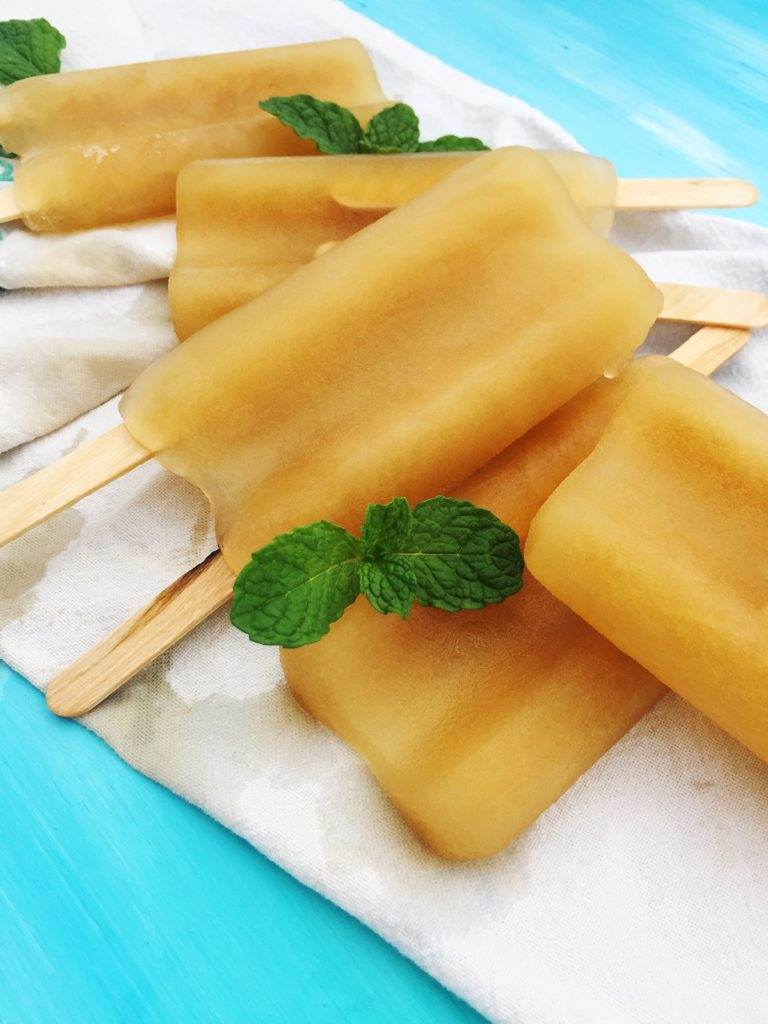 Green Tea and Sweetmint Popsicle