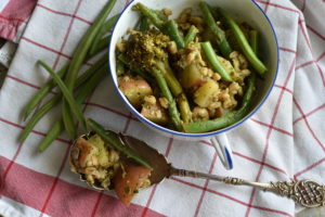 Green Bean and Pesto Potato Salad