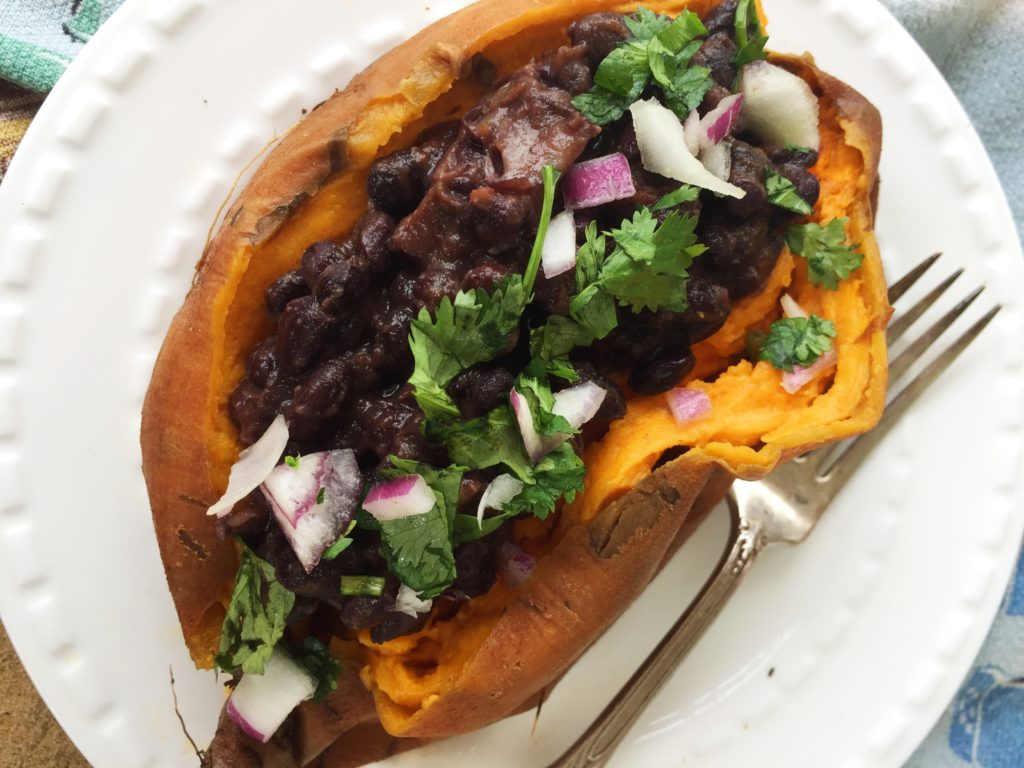 Black Bean Stuffed Sweet Potato