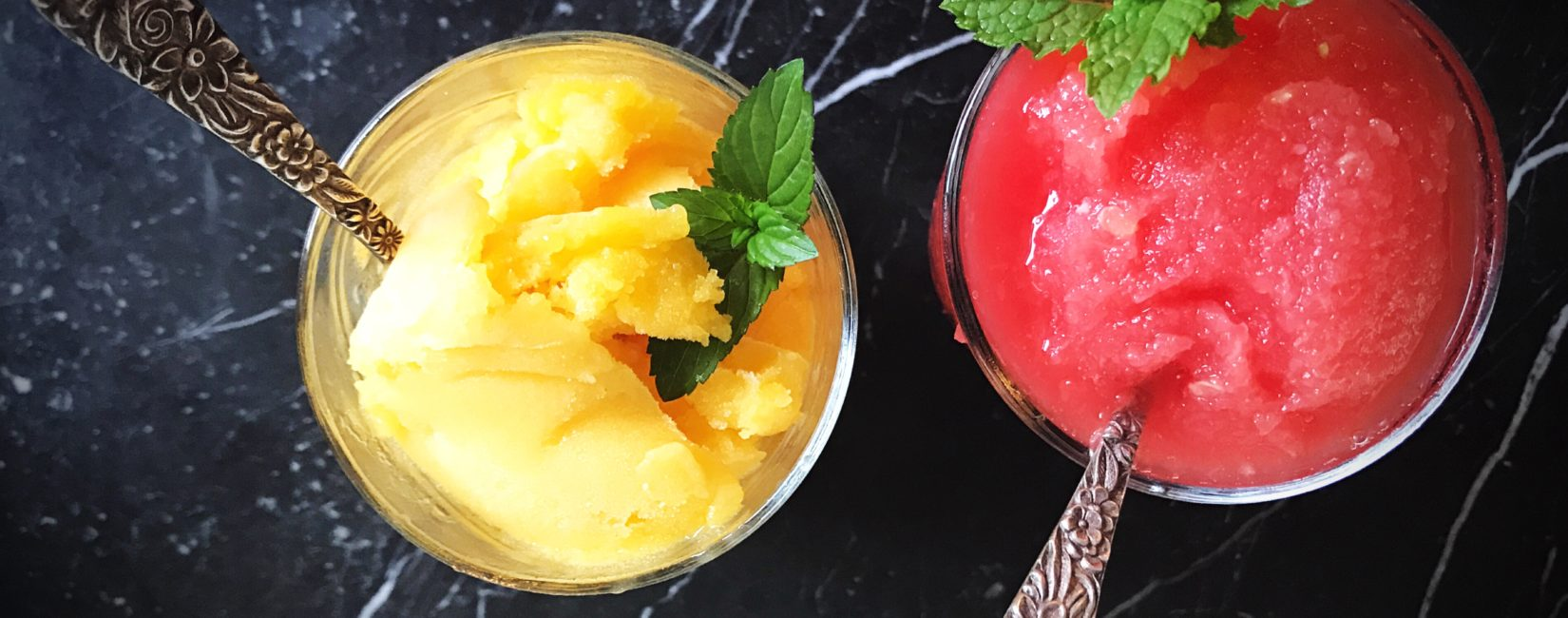 Watermelon and Mango Sorbet