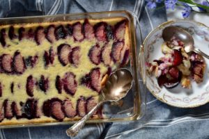 Baked Plum Custard